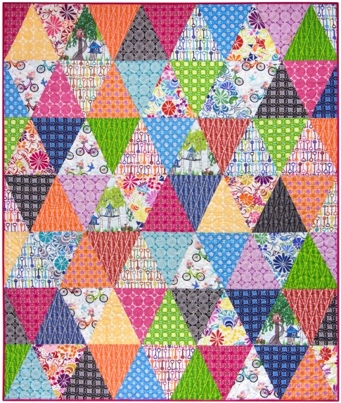 Quilt Patterns With 3 Fabrics : Three Times Around Free Pattern: Robert Kaufman Fabric Company