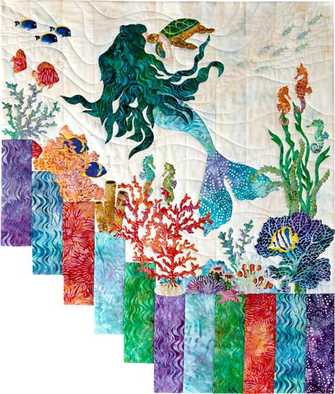 Mermaid Kisses Designer Pattern: Robert Kaufman Fabric Company : mermaid quilt fabric - Adamdwight.com