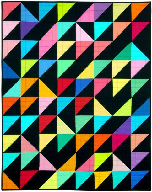 Turning Triangles Free Pattern Robert Kaufman Fabric Company