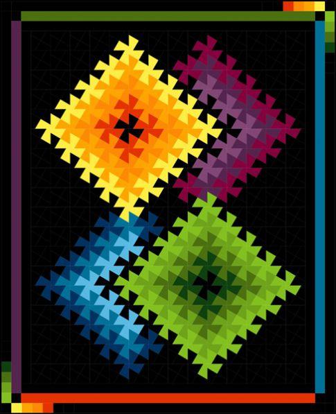 Twister Quilt Pattern Directions : Twister Illusions Designer Pattern: Robert Kaufman Fabric Company