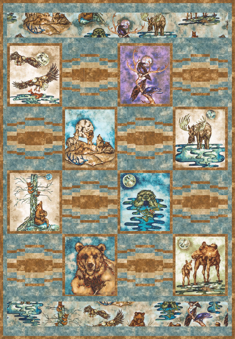 Wildlife Preserve Free Pattern: Robert Kaufman Fabric Company