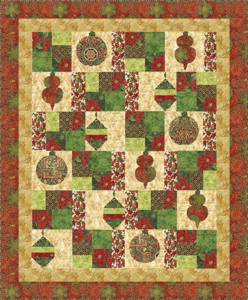 Free Quilt Patterns For Holidays : Holiday Flourish Designer Pattern: Robert Kaufman Fabric Company