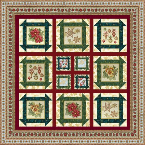 Free Quilt Patterns For Holidays : Holiday Dash Free Pattern: Robert Kaufman Fabric Company