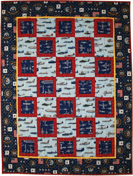 Naval Aviation Quilt Free Pattern: Robert Kaufman Fabric Company