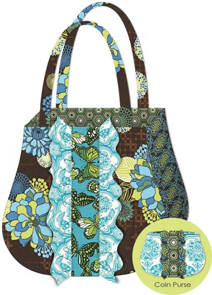 Quilting Purse Patterns Free : Ruffle Tote & Coin Purse Free Pattern: Robert Kaufman Fabric Company