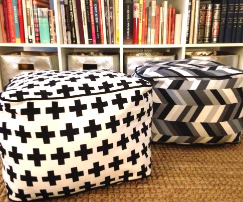 Square Floor Pillow Designer Pattern: Robert Kaufman Fabric Company