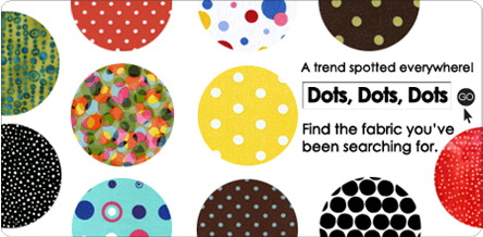 Spotty Dotty. Robert Kaufman Fabrics. Find the fabric you've been searching for.