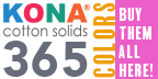 Bought Kona Cotton 365 colors