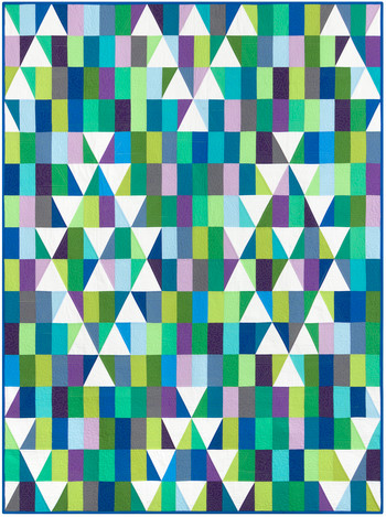 Mosaic Mountains Cool Colorstory Quilt Kit