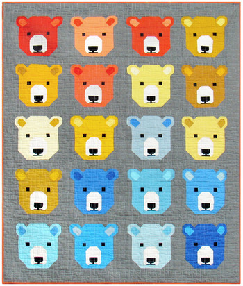 Bjorn Bear by Elizabeth Hartman feat. Kona® Cotton