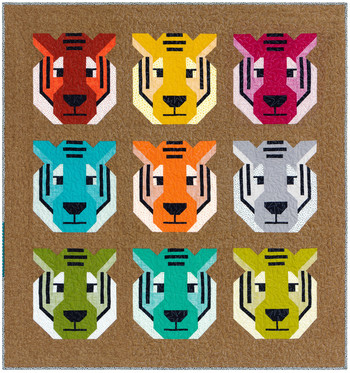 Antonia Tiger Quilt Kit by Elizabeth Hartman - feat. Library