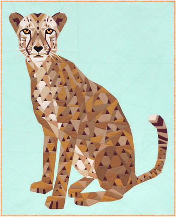 Cheetah Abstractions Kit by Violet Craft - feat. Kona Cotton