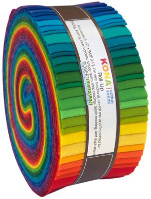 Roll-up fabric bundle roll Summer New Palette Robert Kaufman