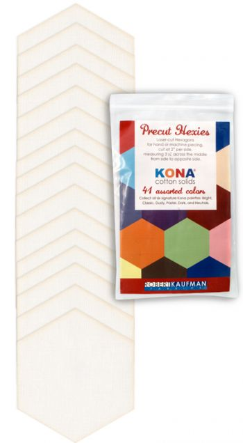 Kona® Cotton, Snow Hexies