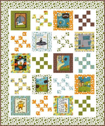 Speak for the Trees quilt kit, Earth colorstory