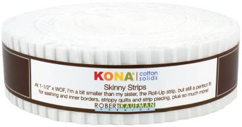 Kona® Cotton, White Skinny Strips