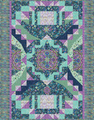 Exuberance Quilt Kit feat. Lumina by Peggy Toole, Peacock colorstory