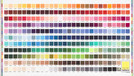 Kona® Cotton Printed Color Chart Individual Panel Kit
