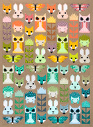 Recolored Fancy Forest Quilt Kit by Elizabeth Hartman