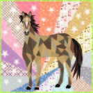 Pattern Horse Abstractions Quilt Kit by Violet Craft - feat. Buffalo Flats