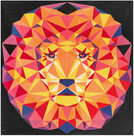 Pattern Lion Abstractions Kit by Violet Craft - feat Kona Cotton